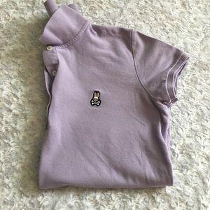 Psycho Bunny Polo Shirt, Lavender, Size L